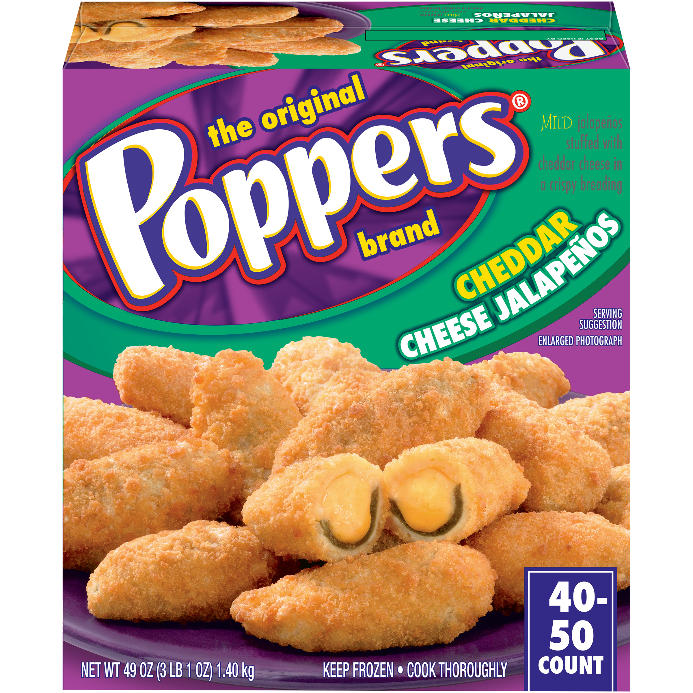 Poppers Cheddar Cheese Jalapenos