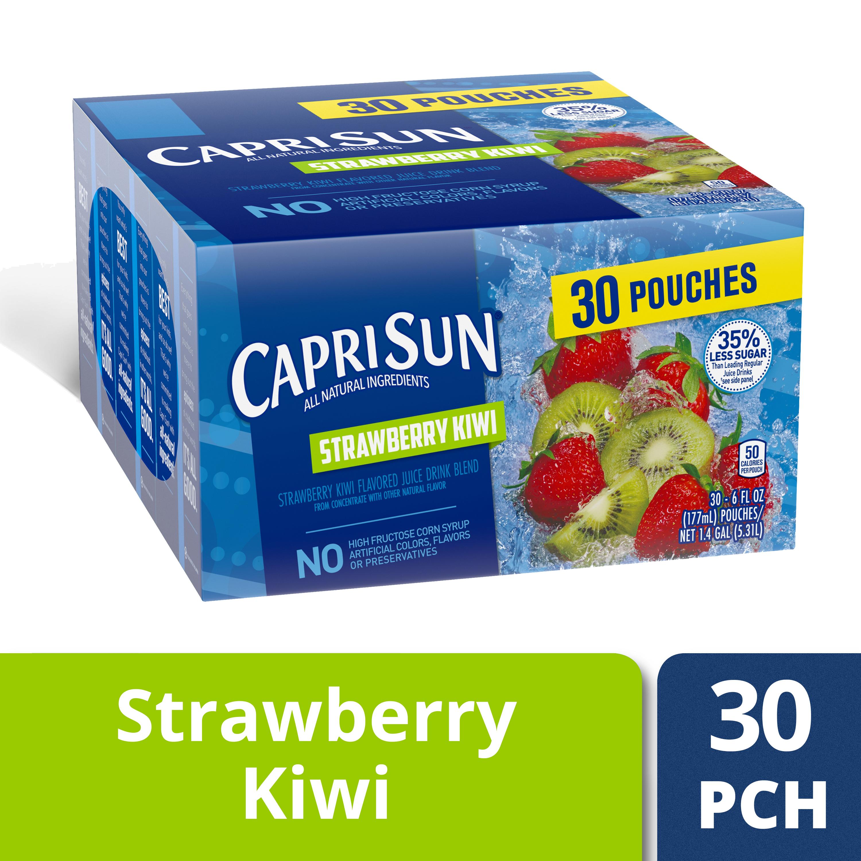 Capri-Sun Capri Sun Strawberry Kiwi Flavored Juice Drink Blend, 30 ct - 6 fl oz Pouches