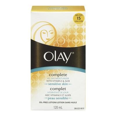Olay Complete All Day Moisturizer for Sensitive Skin with Vitamin E & Aloe Vera