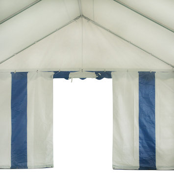 Costway 13'X26' Party Tent Shelter Heavy Duty Patio Wedding Canopy Carport Blue Edge