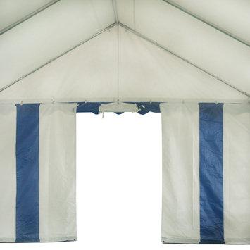 Costway 13'X26' Party Tent Shelter Heavy Duty Patio Wedding Canopy Carport Blue Edge