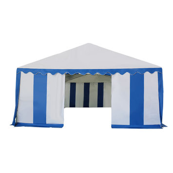 Costway 16 2/5'X26' Tent Shelter Heavy Duty Outdoor Party Wedding Canopy Carport Blue
