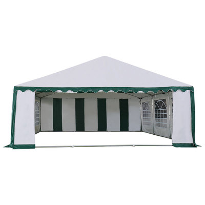 Costway 20'X20' Wedding Tent Shelter Heavy Duty Outdoor Party Canopy Carport Green