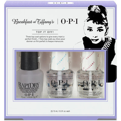 OPI Breakfast at Tiffany's Collection Holiday 2016 Top It Off! Nail Lacquer