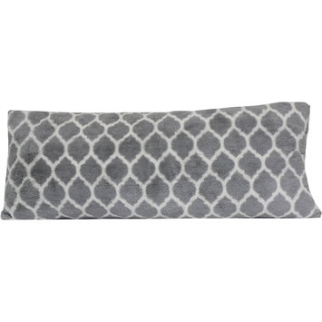 your zone gray lattice body pillow