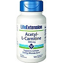 Life Extension Acetyl-L-Carnitine 500 mg - 100 Vegetarian Capsules