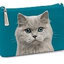 Catseye London 'Cat' Cosmetics Case, Size One Size - Blue Eyed Cat