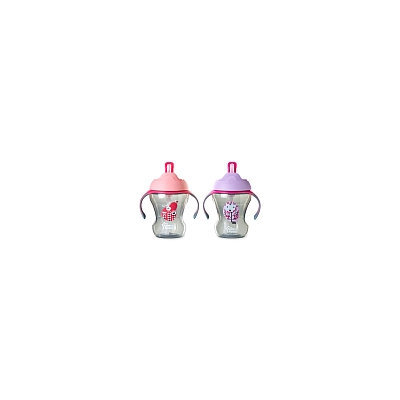 Tommee Tippee Trainer Straw Cup - Pink, Styles May Vary