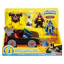 Fisher-Price DC Super Friends Batmobile with Lights & Red Robin Play Set