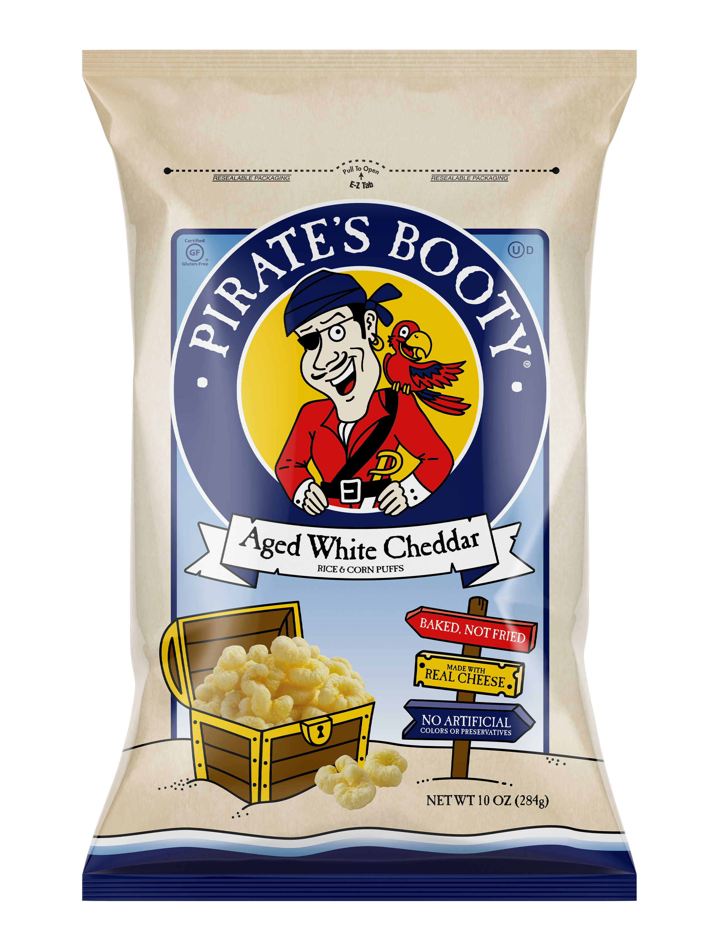 Pirate's Booty Aged White Cheddar 10oz