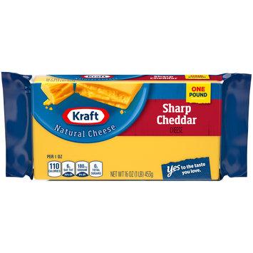 Kraft Sharp Cheddar Natural Cheese Block