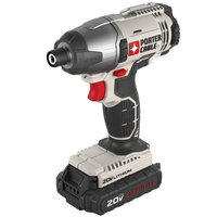 Porter-Cable PCC641LBR 20V MAX Cordless Lithium-Ion 1/4 in. Hex Impact Driver Kit
