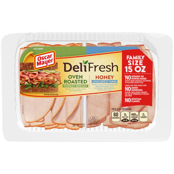 Oscar Mayer Deli Fresh Oven Roasted Turkey & Honey Ham Combo