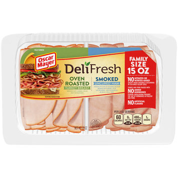Oscar Mayer Deli Fresh Oven Roasted Turkey Breast & Smoked Ham Combo