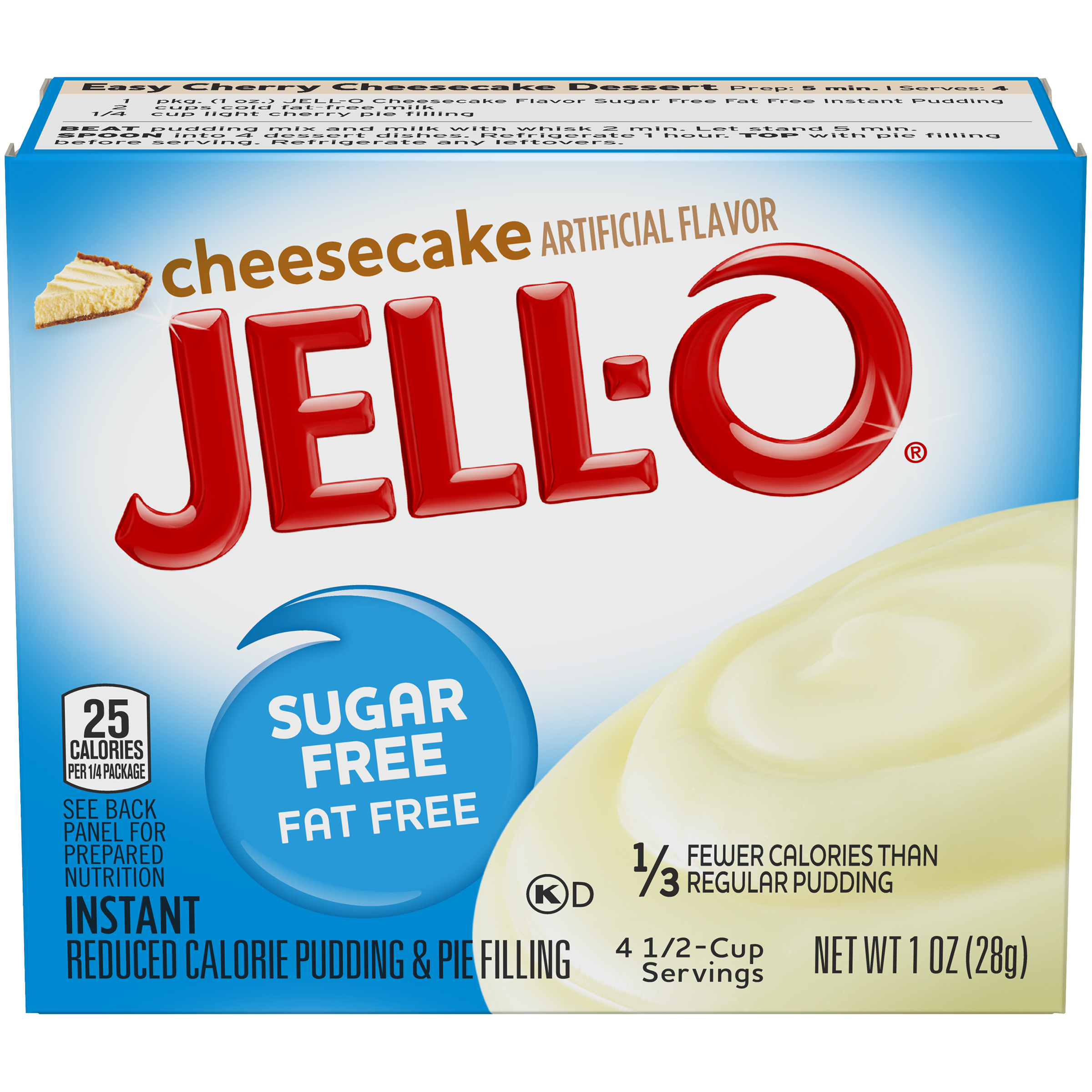 Jell-O Cheesecake Sugar-Free Instant Pudding & Pie Filling