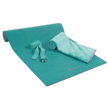 Gaiam Premium Teal Hot Yoga Kit, Turquoise/Blue (Turq/Aqua), 05-62653