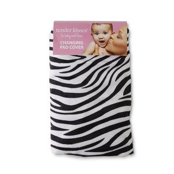 Rose Art Tender Kisses Infants' Changing Pad Cover - Zebra, Black