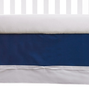 Living Textiles Baby Navy Bedskirt