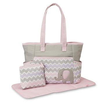 Rose Art Tender Kisses Infant Girls' 3-Piece Diaper Bag Set - Elephant, Multi-Colored, 91930KMT