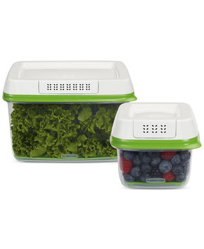 Rubbermaid 2 Piece FreshWorks Produce Saver Set, Small/Large, Green