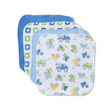 Cudlie Infant Boys' 10-Pack Washcloths, Blue