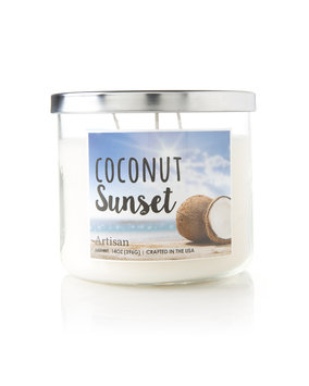 Mvp Group International Inc. Coconut Sunset Scented Candle, White