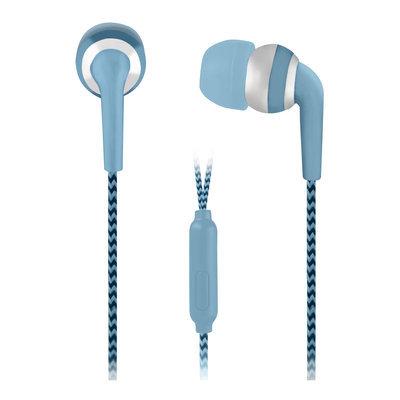 Rgc Redmond Vivitar Metallic Braided Earphone - Blue