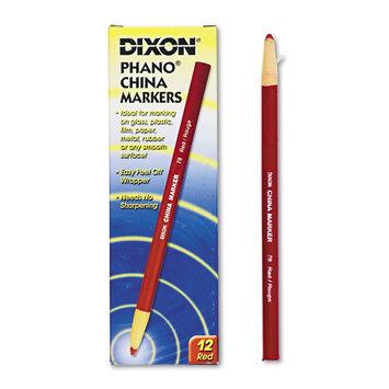 Dixon Ticonderoga Company DIX00079 Phano Nontoxic China Markers Pack of 12