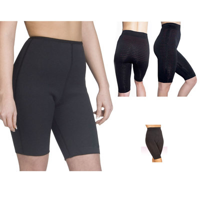 Anti-Cellulite Infrared Slimming and Shaping Shorts, Black