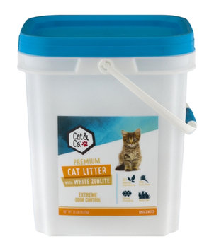 Mygofer Cat & Co. Premium Cat Litter With Activated Carbon Crystals Sparkling Water Scent, 35 lbs