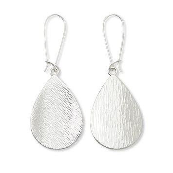 Tanya Creations, Inc. Attention Women's Silvertone Teardrop Earrings, Gray