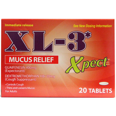 Xl-3 Xpect Mucus Relief 20 Ct
