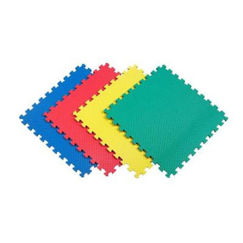Cha Yau Enterprise Co., Ltd Multi-Purpose 24 in. x 24 in. Interlocking Multi-Color Foam Flooring Recyclamat 4-Pieces