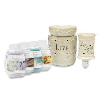 Candle Warmers Live, Laugh, Love Warmer Gift Set