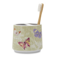 Allure Home Essential Home Toothbrush Holder - Butterflies, Green