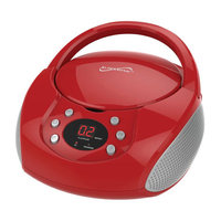 Supersonic BLTH PRTBL BOOMBOX RED