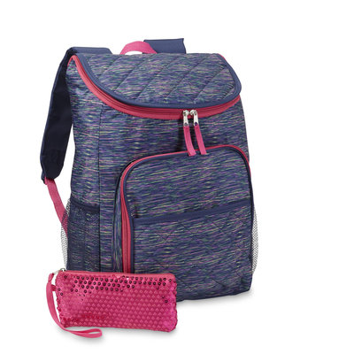 Confetti Girls' Backpack & Wristlet - Space Dyed, Blue