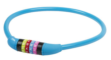 Cycle Source Group, Llc Ventura DS12.65 Silicone 2 feet by 12mm Combo Bike Lock, Blue