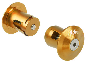 Cycle Source Group, Llc Ventura Alloy A-Rio Handlebar Plugs, Anodized Gold/Orange