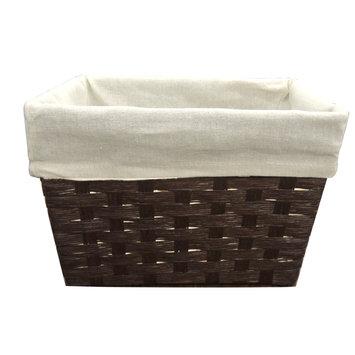 Allure Home Cannon Woven Small Storage Basket, Beige & Tan
