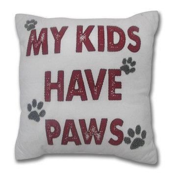 David Shaw Silverware Na Ltd My Kids Have Paws Throw Pillow, Multi