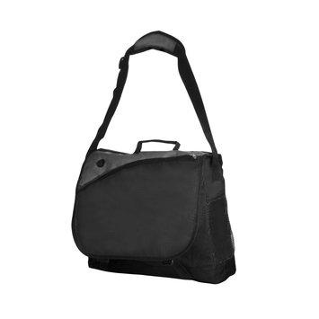 Natico Originals, Inc. Natico 2-Tone Messenger Bag, Black And Gray