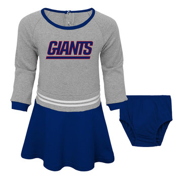 Outerstuff NFL Toddler Girls' Dress & Diaper Cover - New York Giants, Size: 4T, Blue