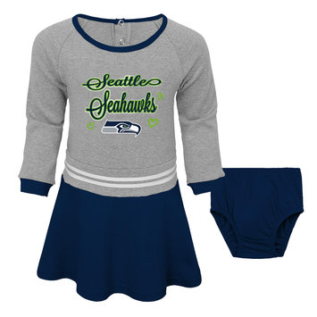 Outerstuff NFL Toddler Girls' Dress & Diaper Cover - Seattle Seahawks, Size: 3T, Blue