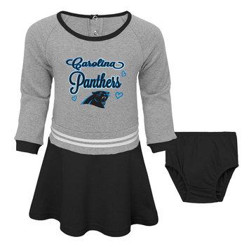 Outerstuff NFL Toddler Girls' Dress & Diaper Cover - Carolina Panthers, Size: 2T, Black