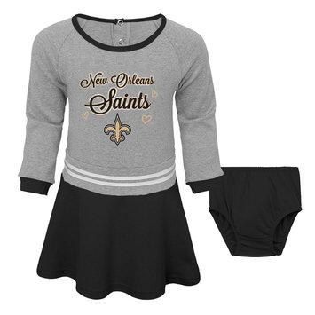 Outerstuff NFL Toddler Girls' Dress & Diaper Cover - New Orleans Saints, Size: 4T, Black