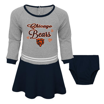 Outerstuff NFL Toddler Girls' Dress & Diaper Cover - Chicago Bears, Size: 3T, Black