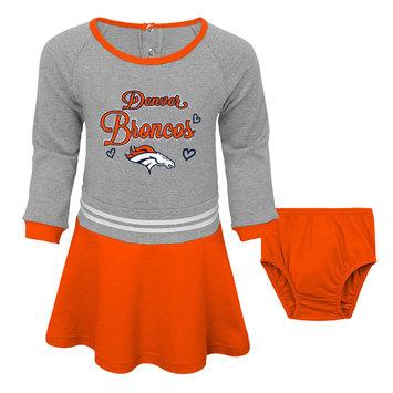 Outerstuff NFL Toddler Girls' Dress & Diaper Cover - Denver Broncos, Size: 3T, Orange