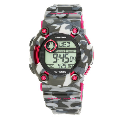 Armitron Men's Camouflage Sport Digital Chronograph Watch, Size: LARGE, Pink