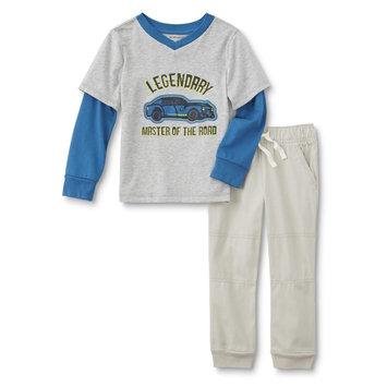 Reliance Universe Ltd. WonderKids Toddler Boys' Graphic T-Shirt & Jogger pants - Car, Blue